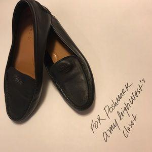 Coach loafers, plain black USA 10